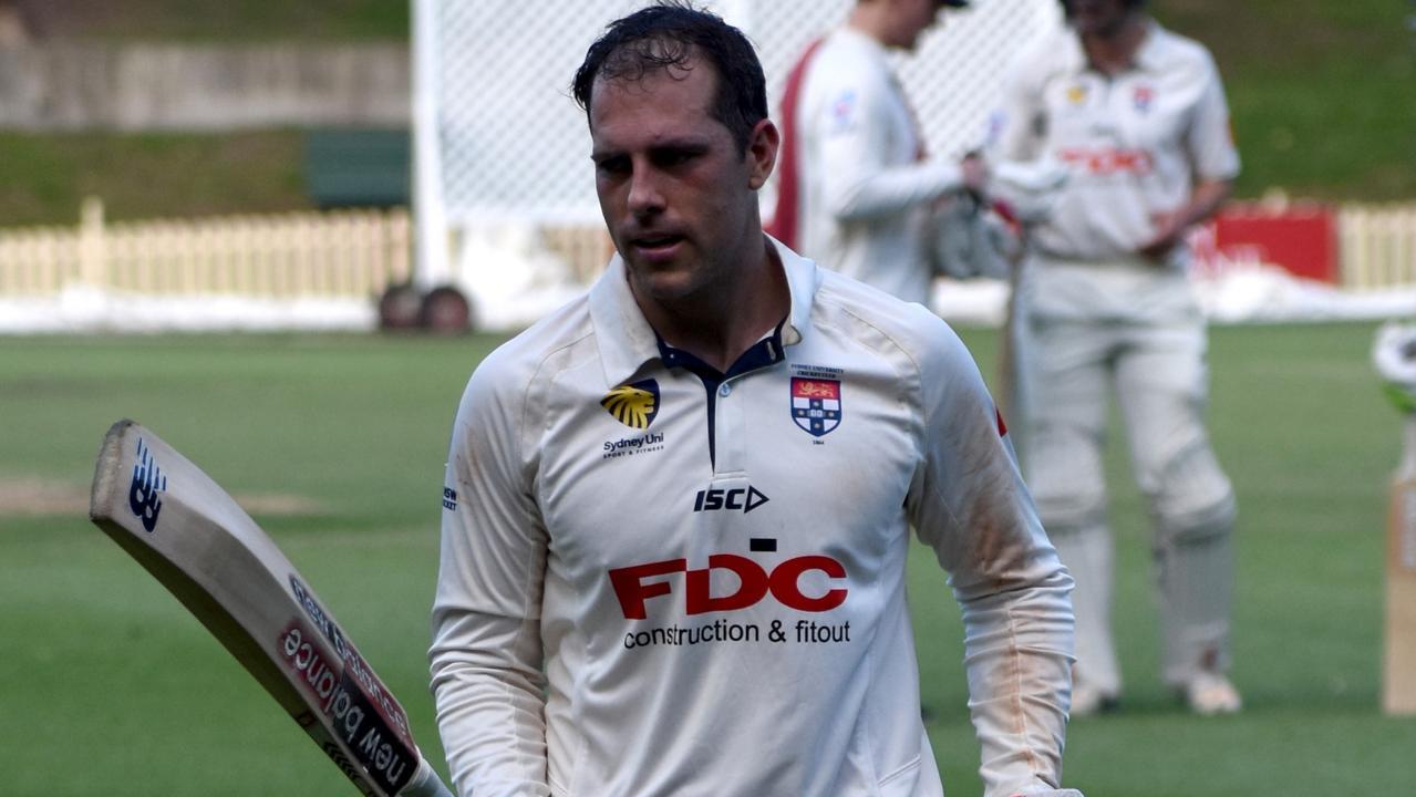 Sydney University keeper Tim Cummins got among the runs on Saturday.