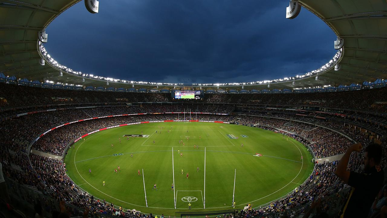 Perth Stadium in WA will host the 2021 AFL Grand Final after Covid-19 outbreaks and restrictions forced it out of Victoria for the second year running. Picture: Getty Images