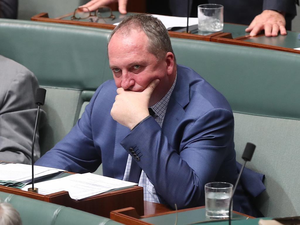Barnaby Joyce didn't agree with the appointment. Picture: Kym Smith