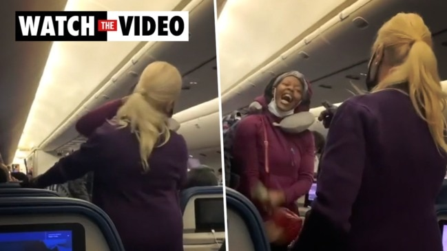 Video shows woman punch flight attendant while wearing mask incorrectly