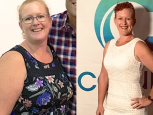 Amy Martin before and after. Image: Supplied.