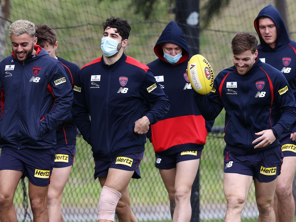 Amid Queensland's Covid chaos, the Demons spent seven hours on a plane on Saturday. Pic: Michael Klein
