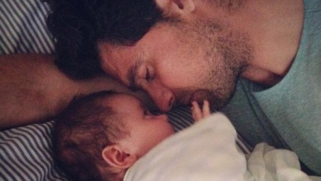 Mark Philippoussis adores his son Nicholas. Picture: Instagram