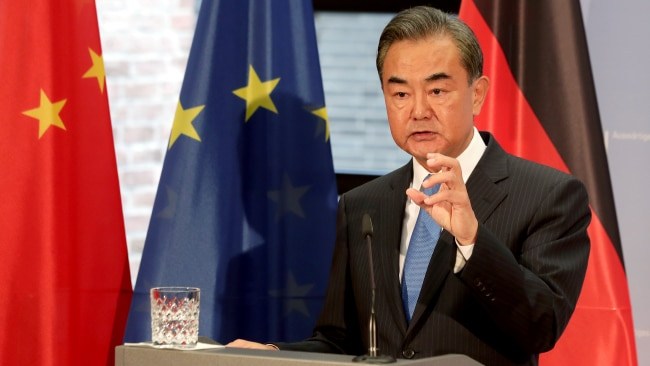 """China's Foreign Minister Wang Yi recently met with representatives of Pakistan and Afghanistan to agree an """"eight-point consensus"""" on cooperation between the three nations. Picture: Getty Images."""