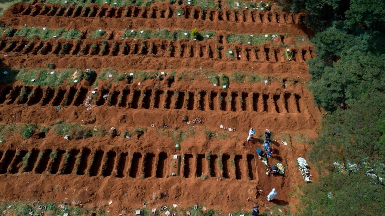 Mass graves dug in Brazil as coronavirus death toll climbs