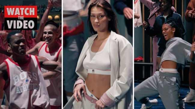 Bella Hadid launches new Hugo Boss collaboration with Russell Athletic
