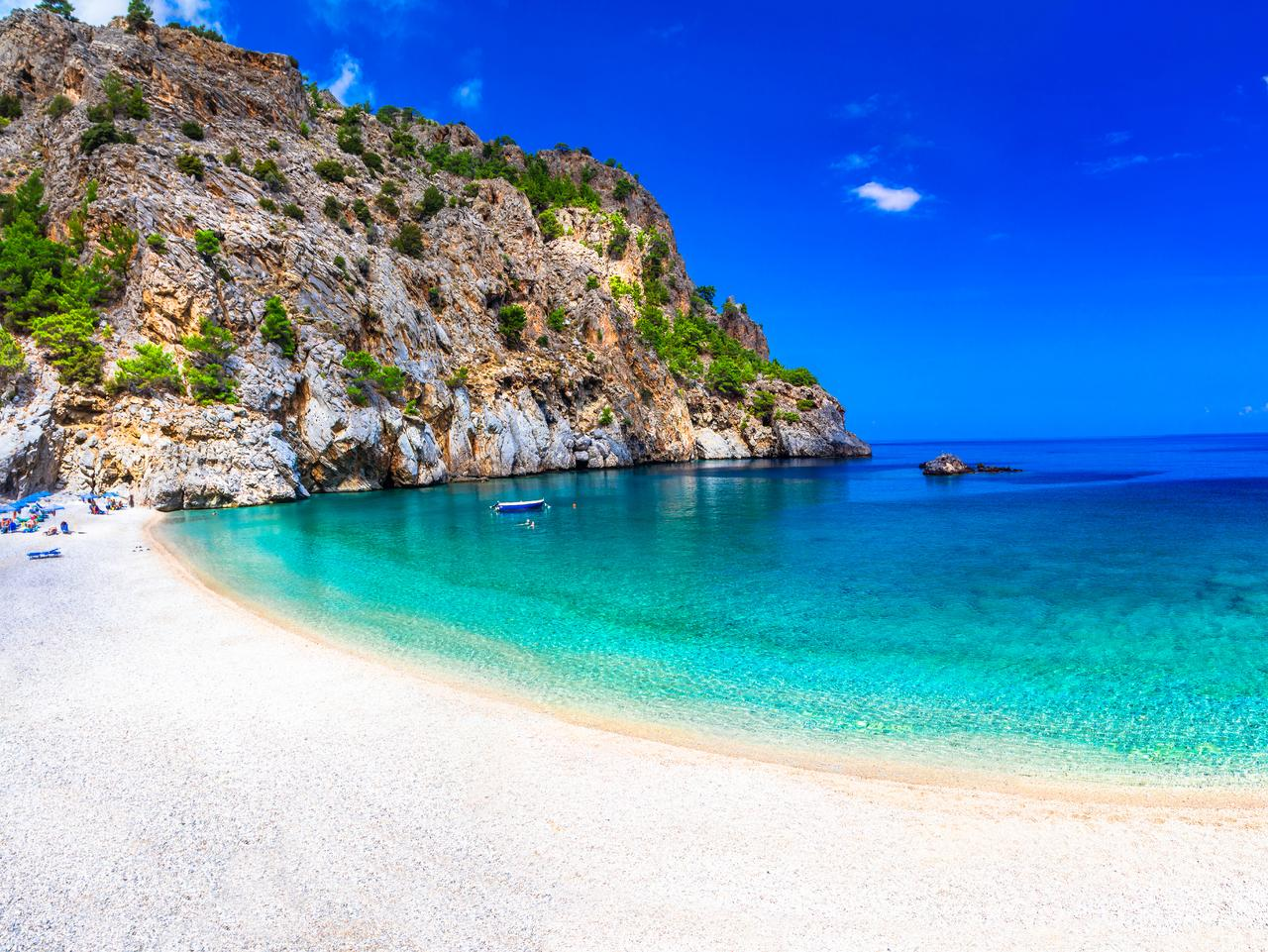 Most Beautiful Beaches Of Greece. Achata,In Karpathos Island.