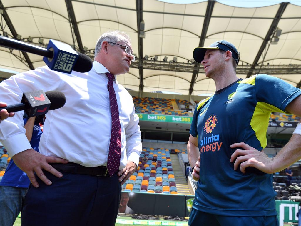 Australia's Prime Minister Scott Morrison talks to the most important person in the country.
