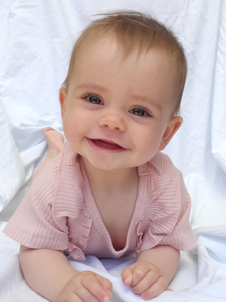 Kobi's mother's favourite picture of her baby girl.
