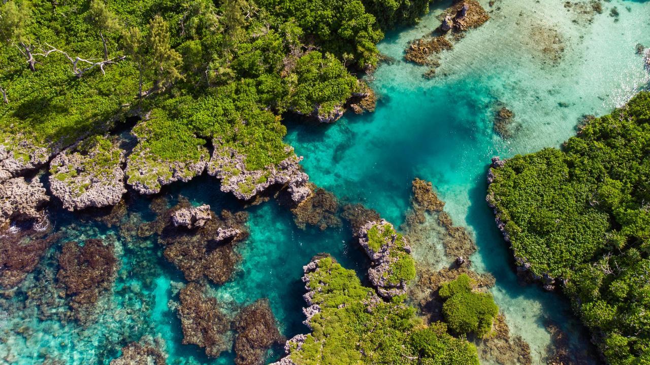 The Blue Lagoon on the southeast coast of Efate, Vanuatu. Picture: Alamy