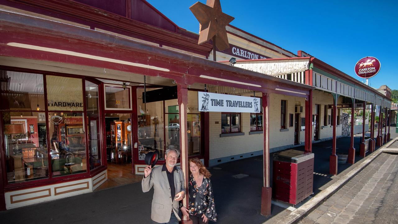 Clunes has been named Victoria's best spot to snare a property bargain. Cherie Bridges and Mark Payne are selling their 1860s on the town's main street. Picture: Jay Town