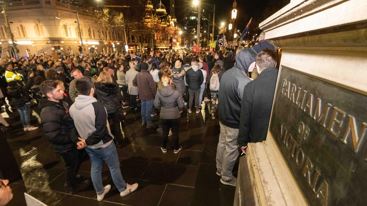 There were more than 200 people part of the protests. Picture: Tony Gough