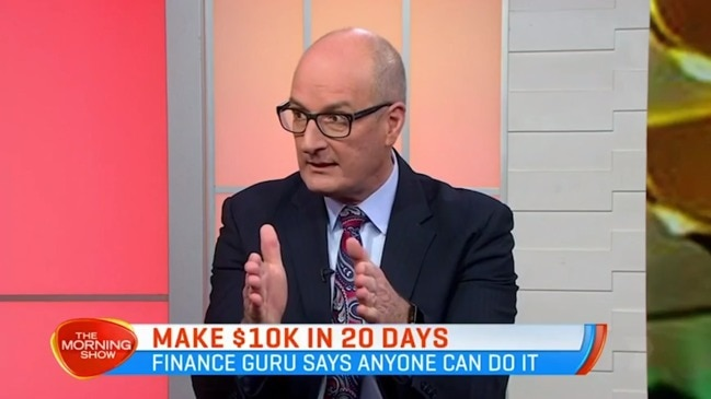 David Koch shows Aussies how to make $10,000 in 20 days (The Morning Show)