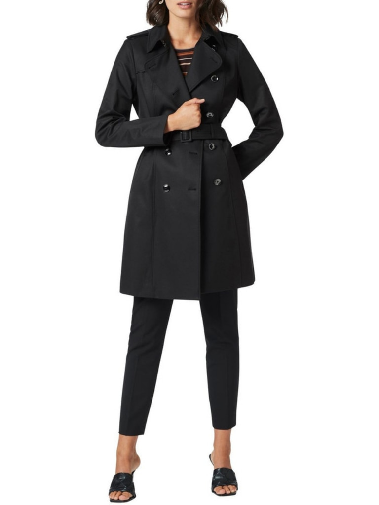 David Lawrence Dawson Trench Coat, front. Image: Myer.