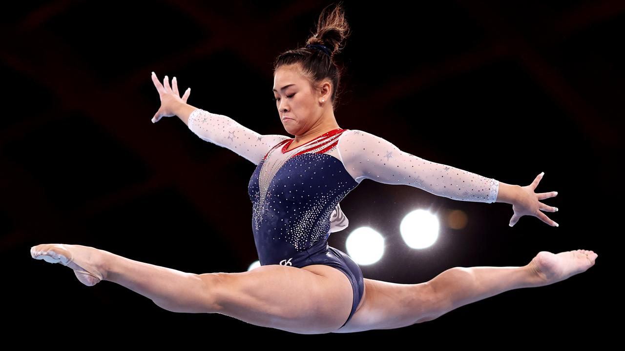 Team USA gold medallist Sunisa Lee of Team United States competes on balance beam during the Women's All-round Final. Picture: Julian Finney/Getty Images