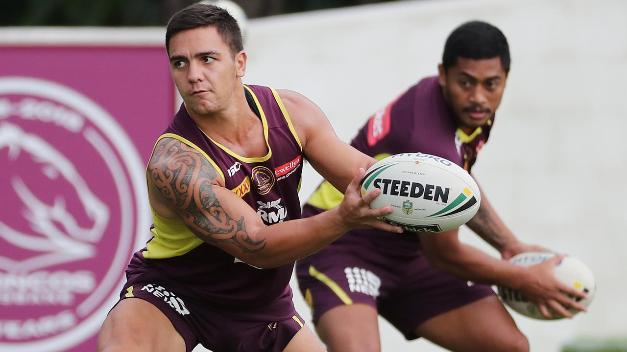 Kodi Nikorima and Anthony Milford have been receiving guidance from Matty Johns.