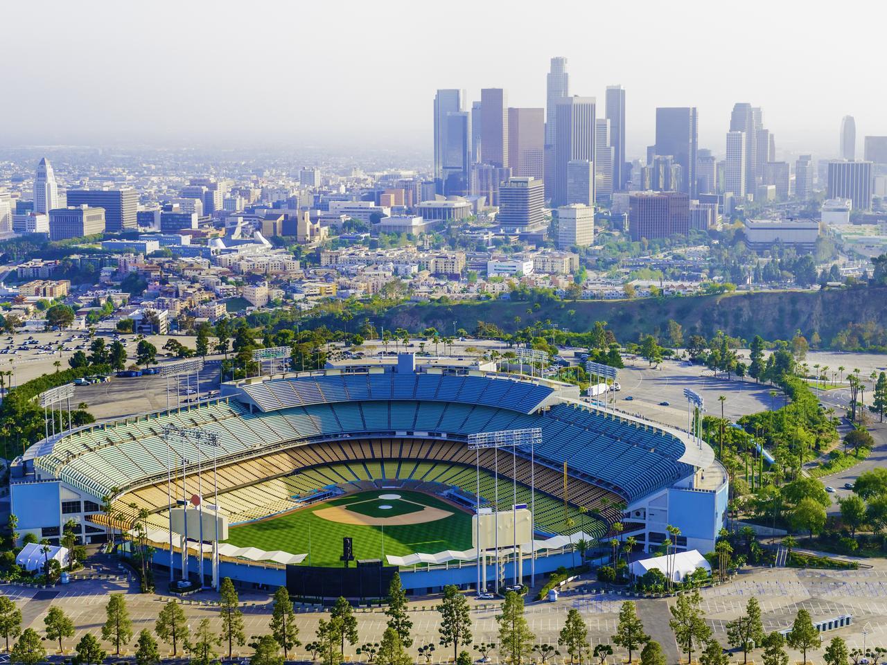Panoramic Aerial of Los Angeles California