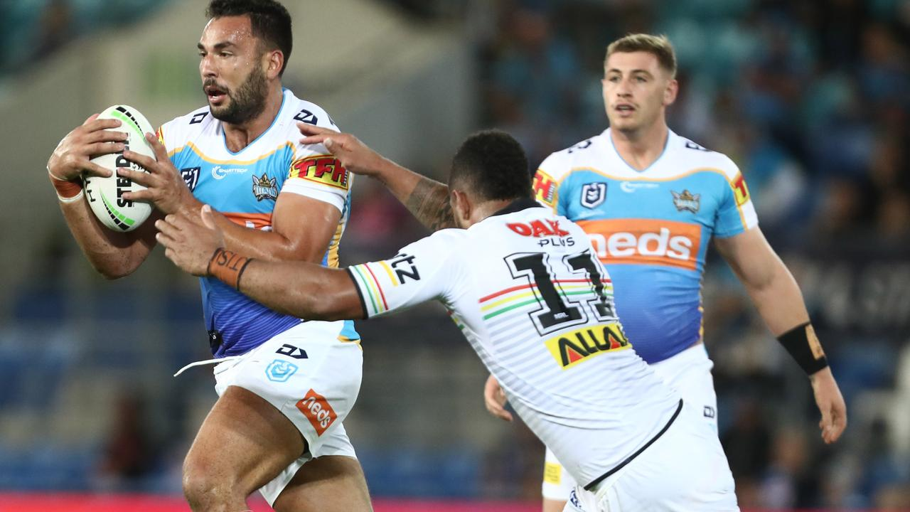Ryan James makes a charge against Penrith