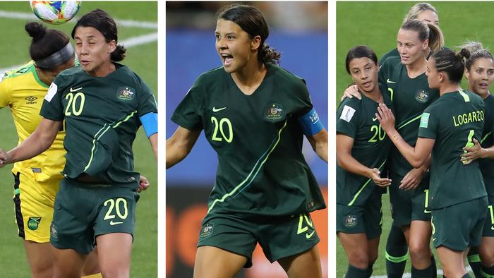 Sam Kerr scored an outrageous FOUR goals as the Matildas smashed Jamaica to seal their spot in the World Cup Round of 16!