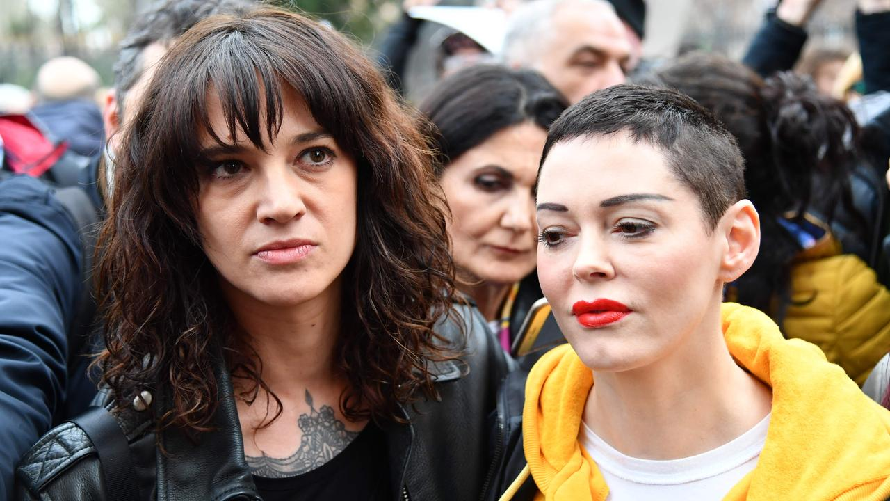 Stars including Italian actress Asia Argento (L) and US actress Rose McGowan spoke out against Weinstein. Picture: AFP