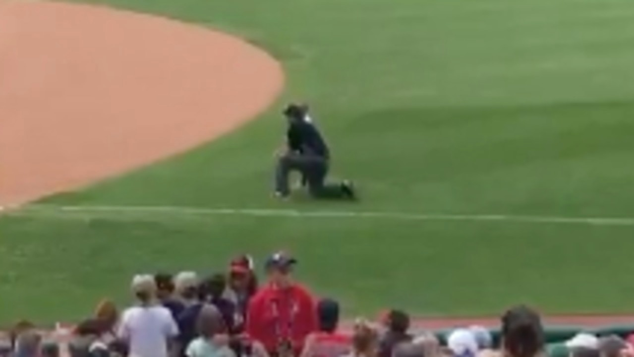 MLB Umpire Lets Boy on Field Over He Fell Over Railing at Cleveland Indians Game