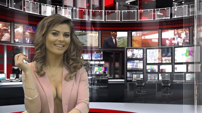 The women on Zjarr TV wear open jackets and nothing underneath.
