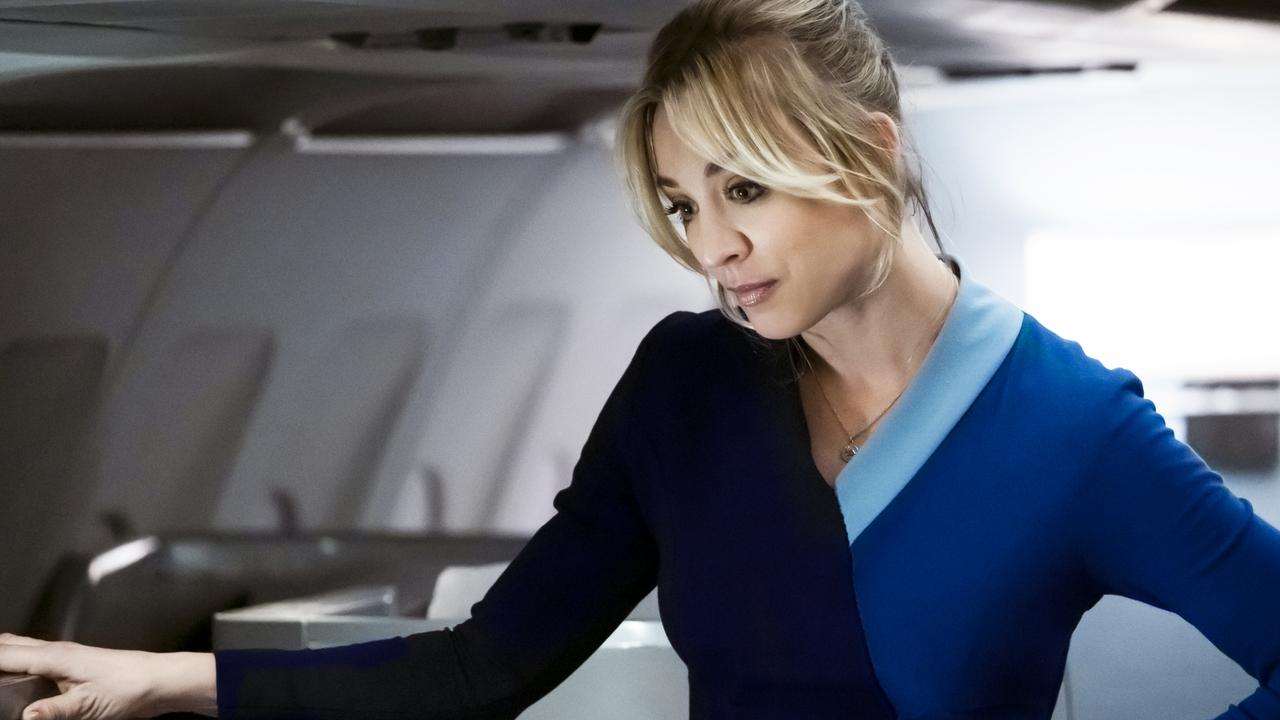 Cuoco, seen here in The Flight Attendant, admits she wasn't planning her next move after Big Bang. Picture: Supplied/HBO