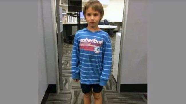 The eight-year-old boy who went missing. Picture: QPS