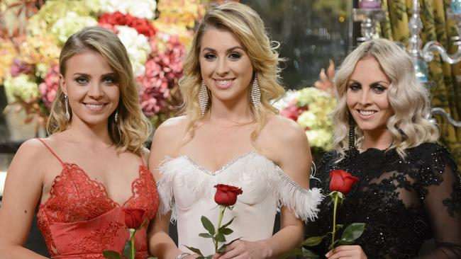 Nikki, far right, was dumped on The Bachelor.