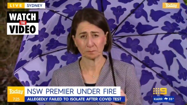 NSW Premier Gladys Berejiklian admits she didn't isolate after COVID test (The Today Show)