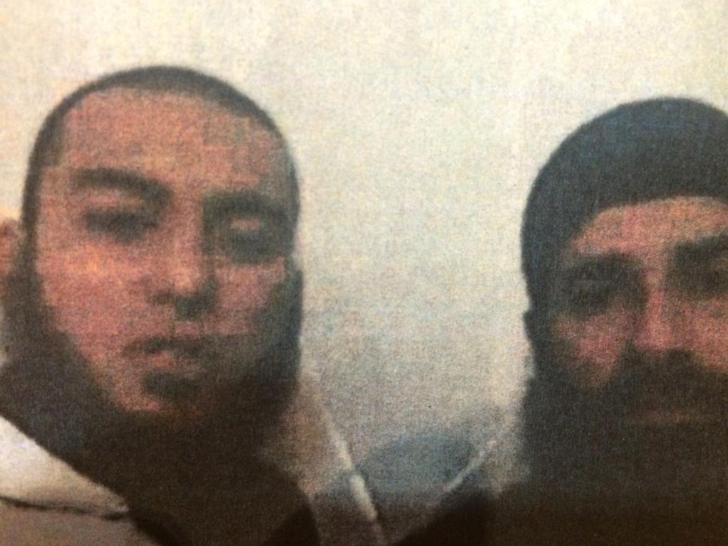 Slain Australian jihadists Caner Temel (left) and Mohammed Ali Baryalei in 2013.