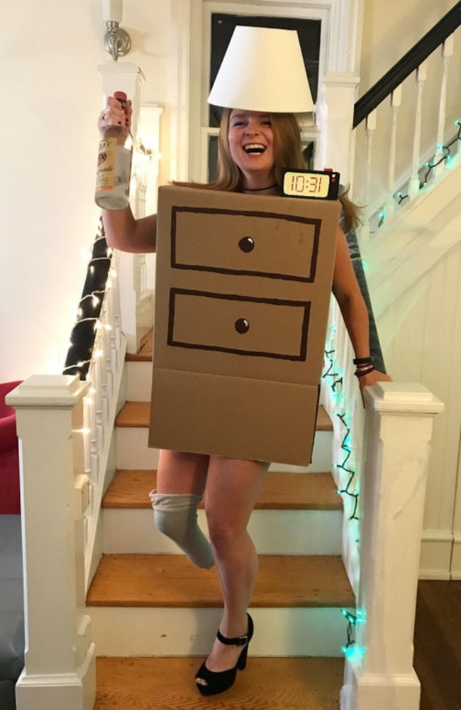 A woman has unveiled her very inventive Halloween outfit, leaving people in stitches. Picture: Reddit