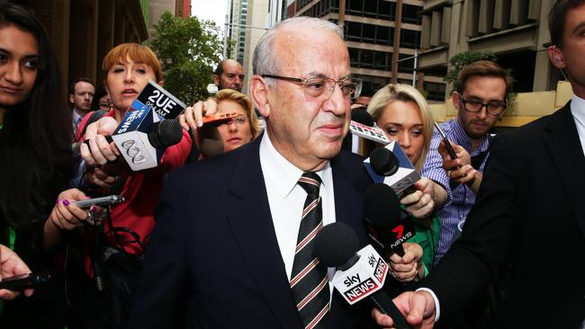 Eddie Obeid leaves court in Sydney this morning after his passport was revoked.