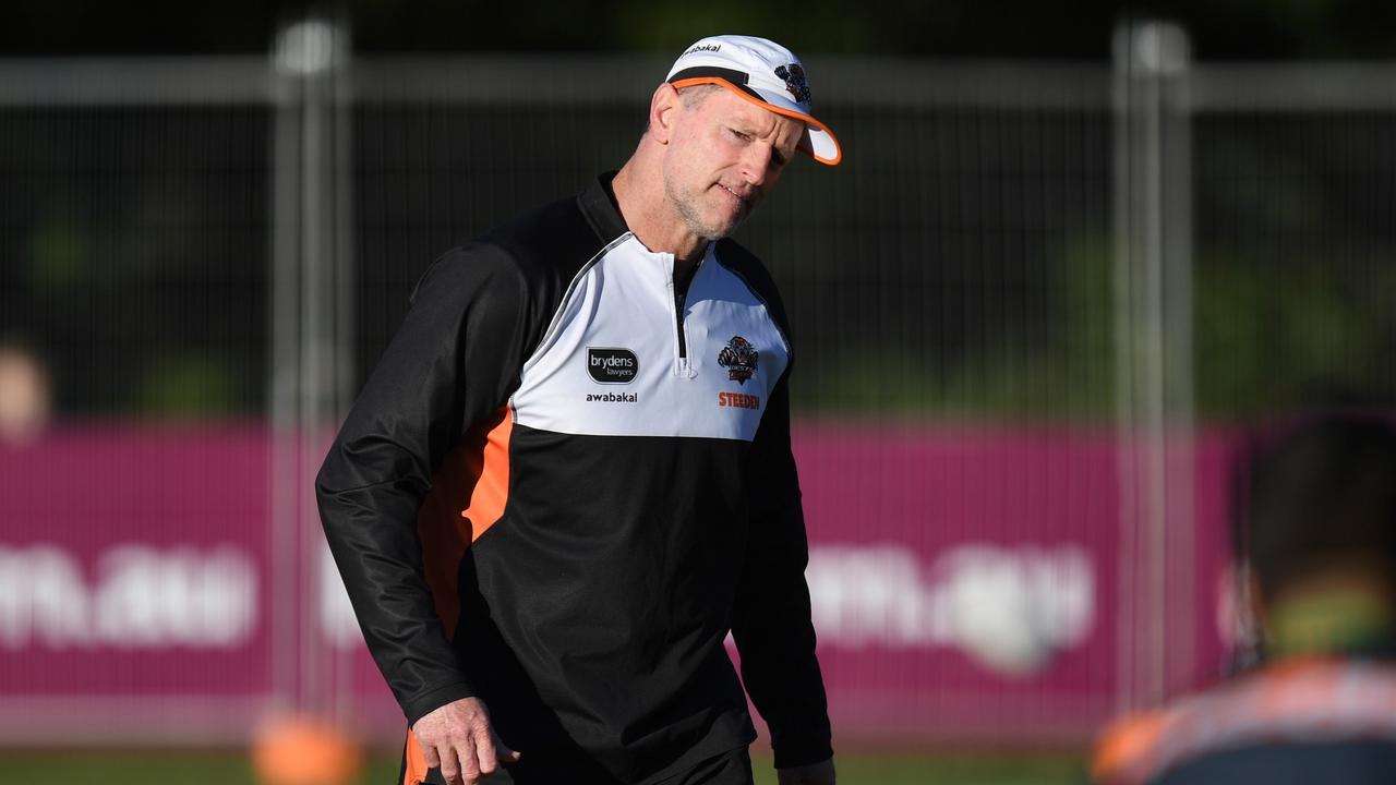 West Tigers NRL coach Michael Maguire at training. NRL Photos