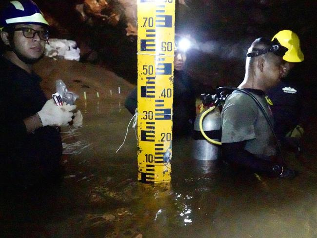 Thai Navy SEALs and volunteers pumped water out of the cave to make it easier to reach the trapped soccer team.