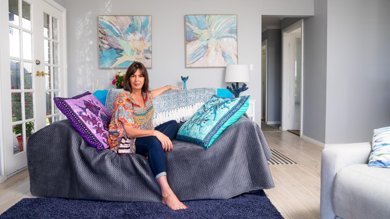 At home with Finesse Models' director Brigette Mitchell. Picture: Nick Clayton.