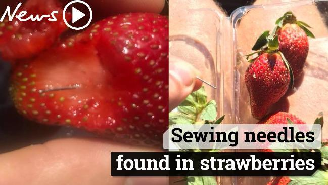 Sewing needles found inside strawberries sold at major supermarket
