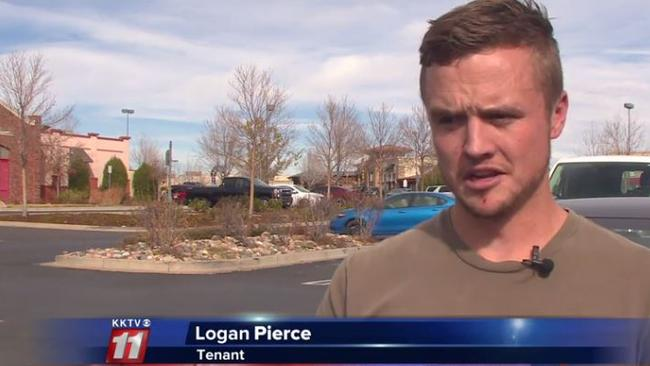 Logan Pierce installed a home security system at his rented apartment.