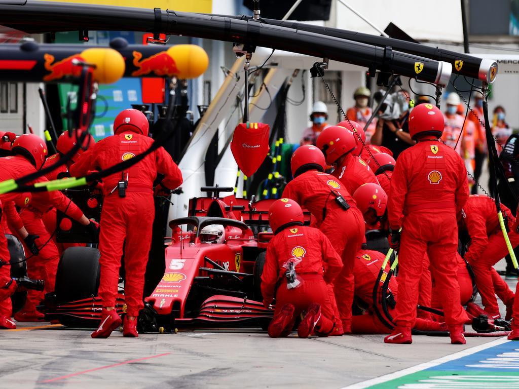 Ferrari is waving the white flag.