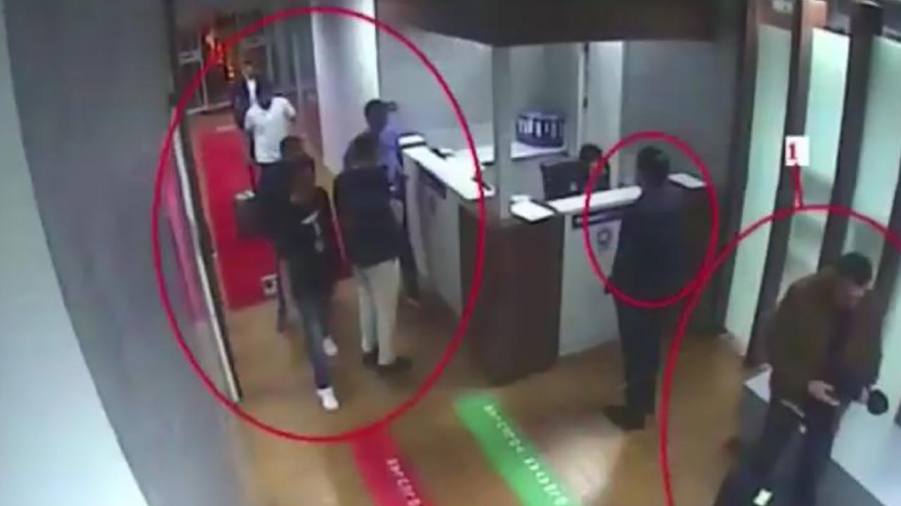 Police CCTV video made available through Turkish Newspaper Sabah allegedly shows suspects in the case of missing Saudi journalist Jamal Khashoggi (unseen) at Istanbul's Ataturk airport. (Photo by - / Sabah Newspaper / AFP)