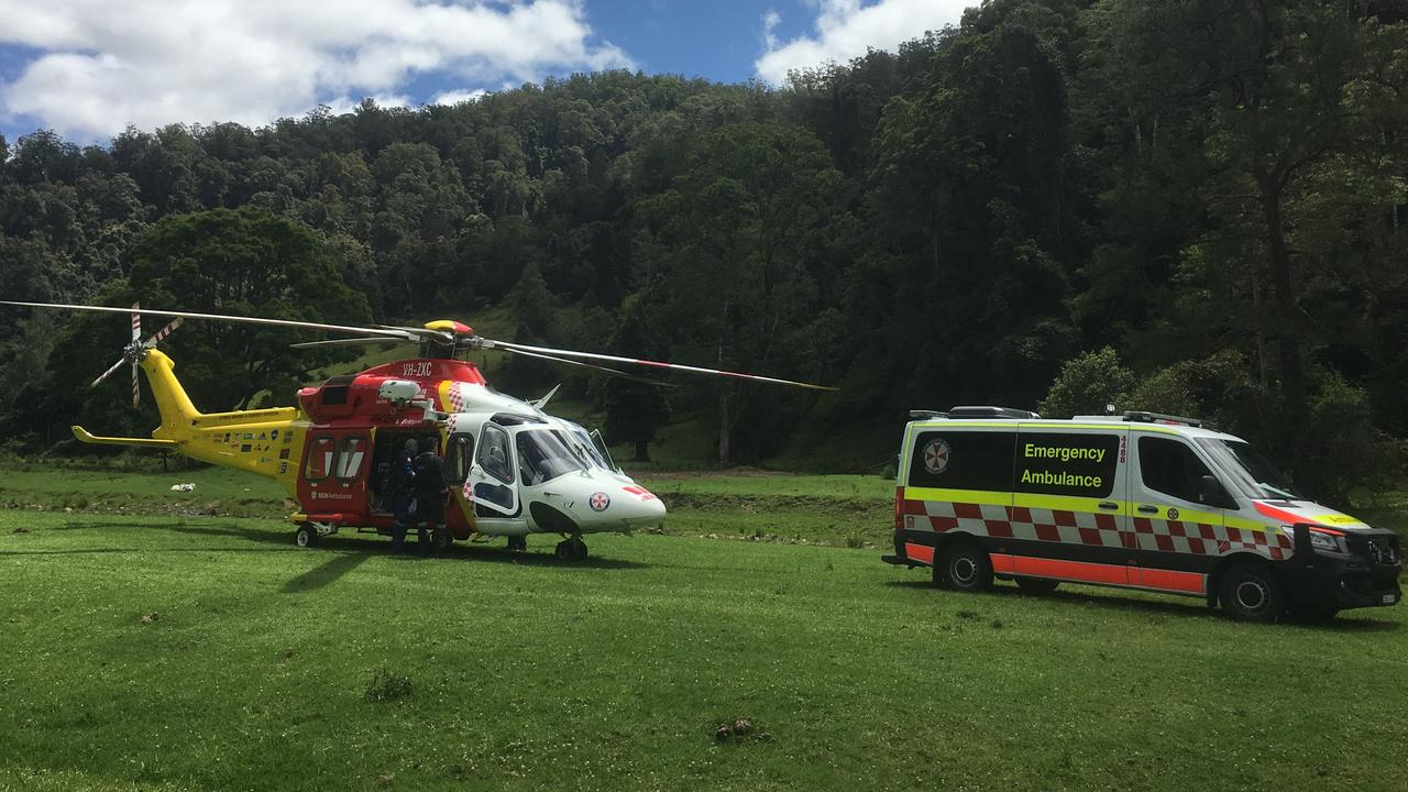 The man was airlifted to hospital. Picture: NSW Ambulance