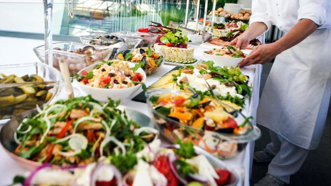 2/12Buffet and after While the date Australian cruise ships will again hoist anchor aren't yet determined one treasured element of shipboard life will fade like the coastline in a mist – the tray-sliding joy of the buffet. Which in a corona-wary world can be a health hazard.