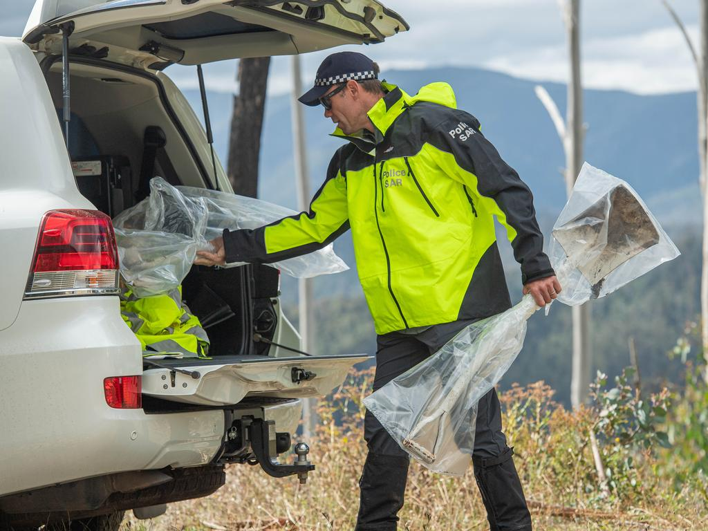 The search last came to an abrupt halt the day after detectives moved their investigations to the Mount Hotham area and found two shovels on April 14. Picture: Jason Edwards