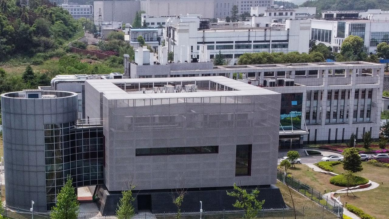 An aerial view of the P4 laboratory at the Wuhan Institute of Virology in Wuhan in China's central Hubei province Photo: Hector Retamal/AFP