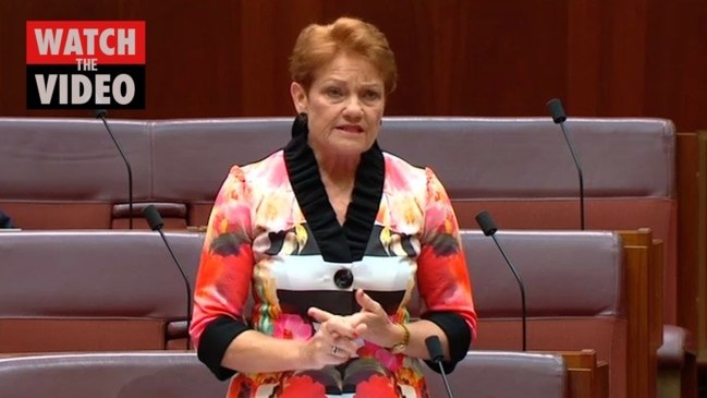Watch: Pauline Hanson declares people on welfare have 'lost their rights' in furious speech