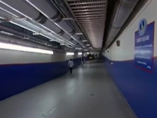 The tunnels are colour coded to stop staff members getting lost. Picture: Disney Parks/YouTube