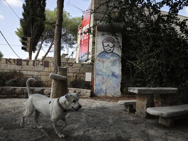 ISRAEL Part of the Berlin Wall has even made it to Israel, sitting just outside the Janco-Dada Museum in Ein Hod, in the country's north. Picture: AP
