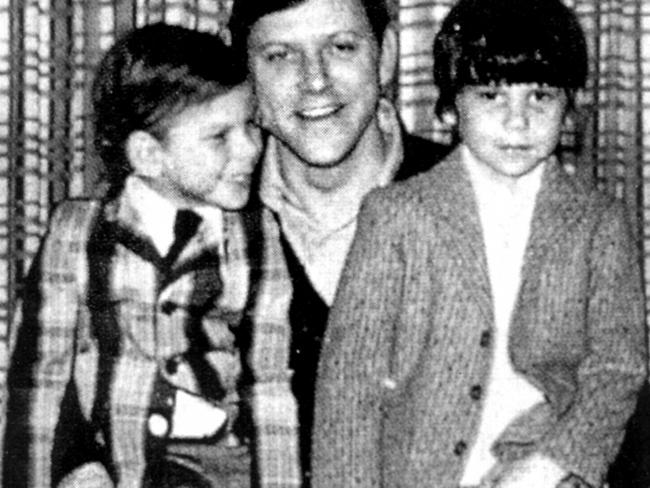 Jose Menendez with Erik (left) and Lyle (right) was a ruthless perfectionist with high ambitions for his sons.