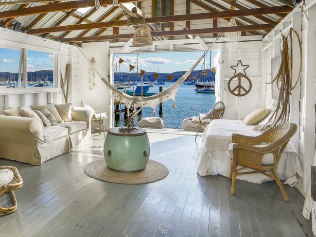 The boat house at 8 Paradise Ave, Avalon Beach.