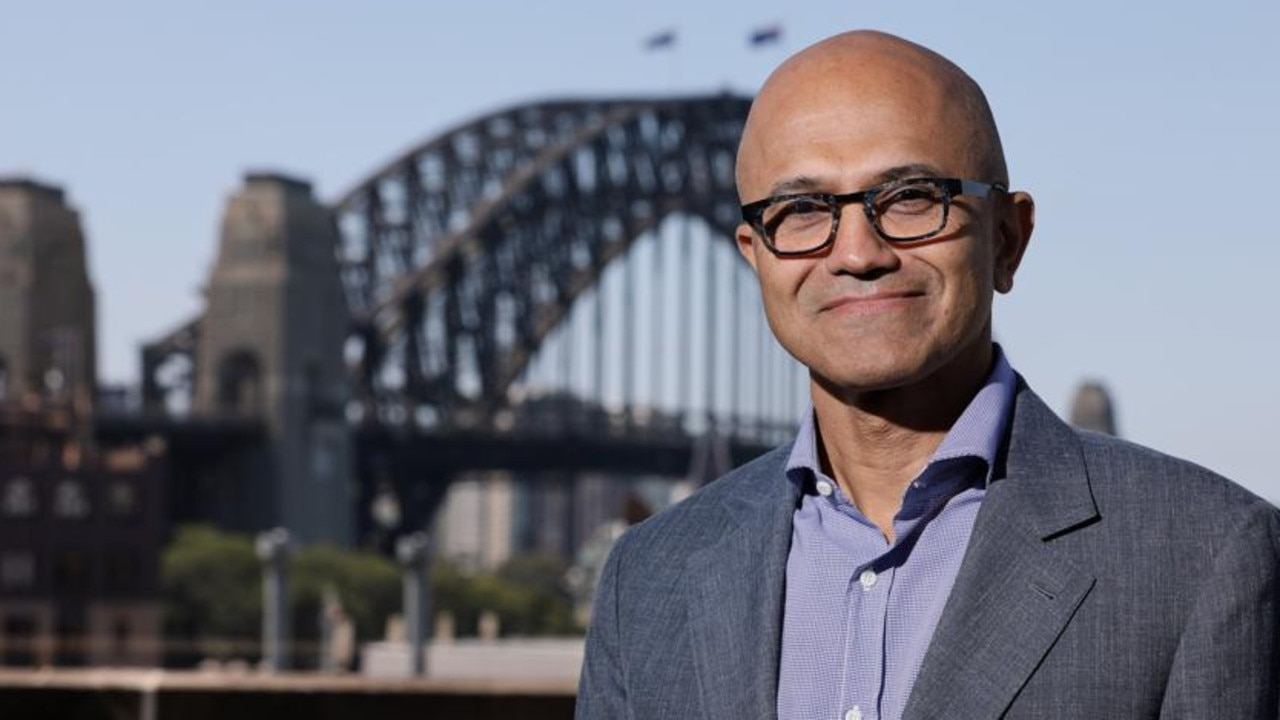 Microsoft, headed by CEO Satya Nadella, has become a vocal supporter of the proposed news code in Australia. Picture: Mark Nolan/Getty Images for Microsoft